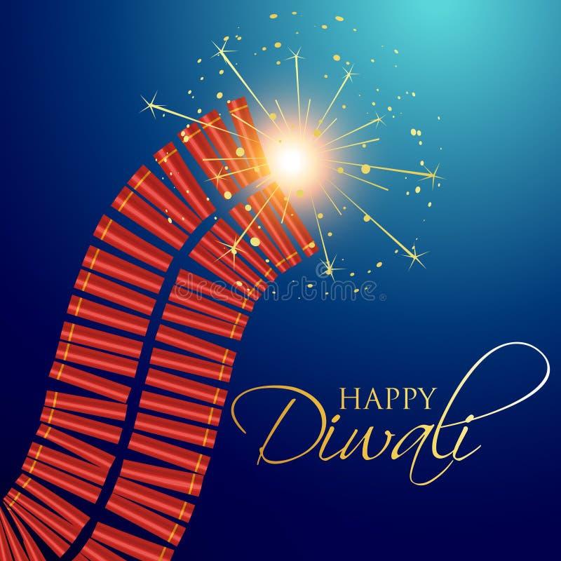 Διανυσματικές κροτίδες diwali απεικόνιση αποθεμάτων