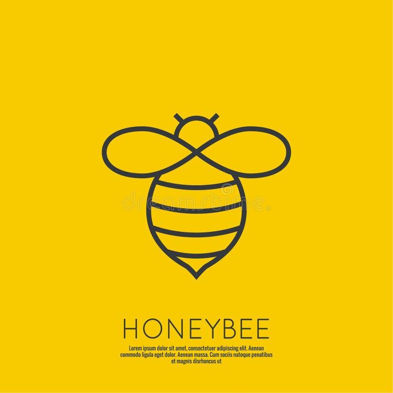 Διανυσματικές μέλισσες μελιού εικονιδίων απεικόνιση αποθεμάτων