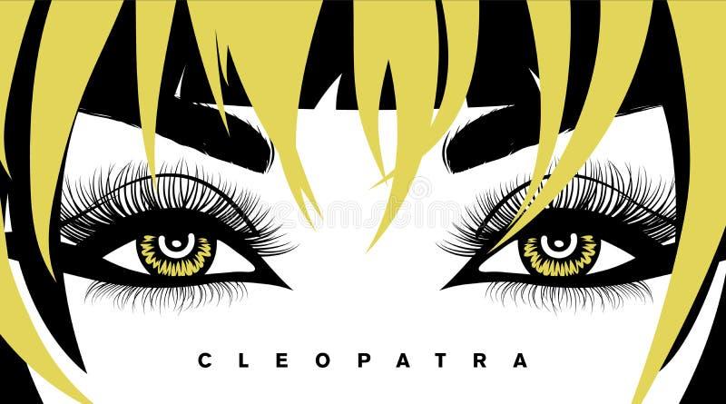 Διανυσματικές μαστίγια και τρίχα ματιών Hand-drawn προκλητικό πολυτελές μάτι γυναικών s με τα τέλεια διαμορφωμένα φρύδια και τα π ελεύθερη απεικόνιση δικαιώματος