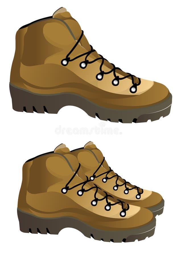 Διανυσματικές μπότες απεικόνιση αποθεμάτων