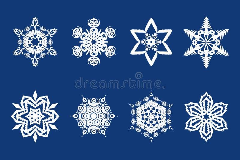 Διανυσματικές νιφάδες χιονιού απεικόνιση αποθεμάτων