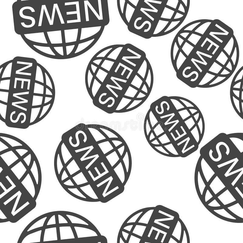 Διανυσματικές παγκόσμιες ειδήσεις εικονιδίων Ειδήσεις επιγραφής εικόνας στο σχέδιο σφαιρών σε ένα άσπρο υπόβαθρο διανυσματική απεικόνιση