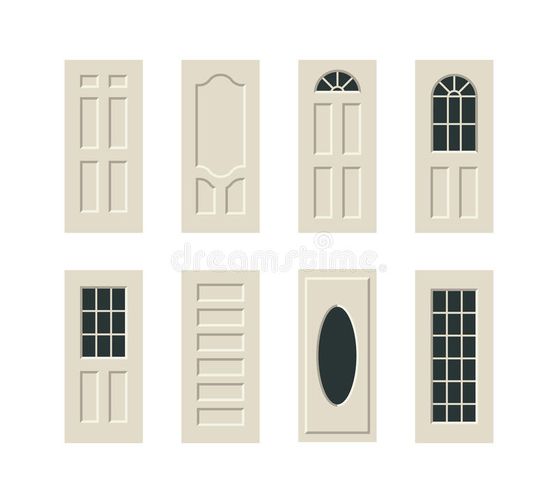 Διανυσματικές πόρτες καθορισμένες διανυσματική απεικόνιση