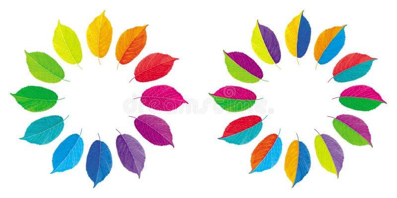 Διανυσματικές ρόδες χρώματος ελεύθερη απεικόνιση δικαιώματος