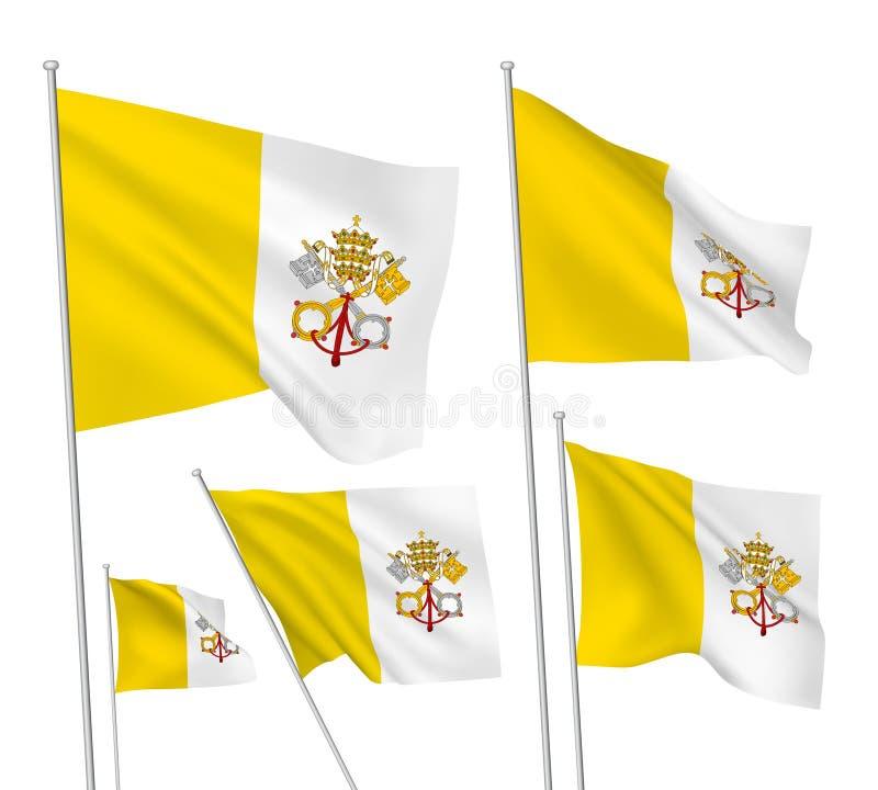 Διανυσματικές σημαίες Βατικάνου ελεύθερη απεικόνιση δικαιώματος