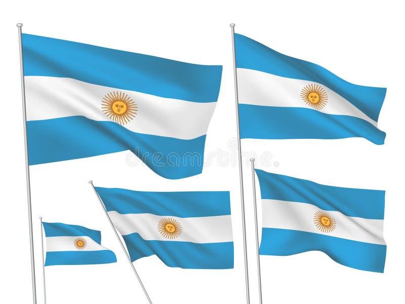 Διανυσματικές σημαίες της Αργεντινής διανυσματική απεικόνιση