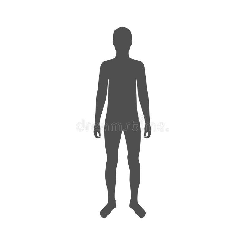 Διανυσματικές σκιαγραφίες του ατόμου απεικόνιση αποθεμάτων