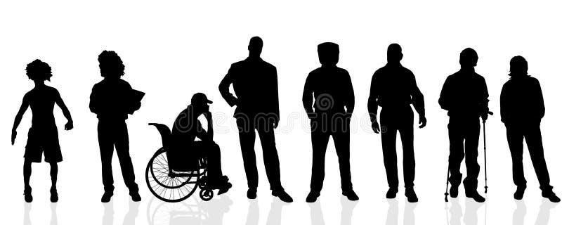 Διανυσματικές σκιαγραφίες του ατόμου ελεύθερη απεικόνιση δικαιώματος