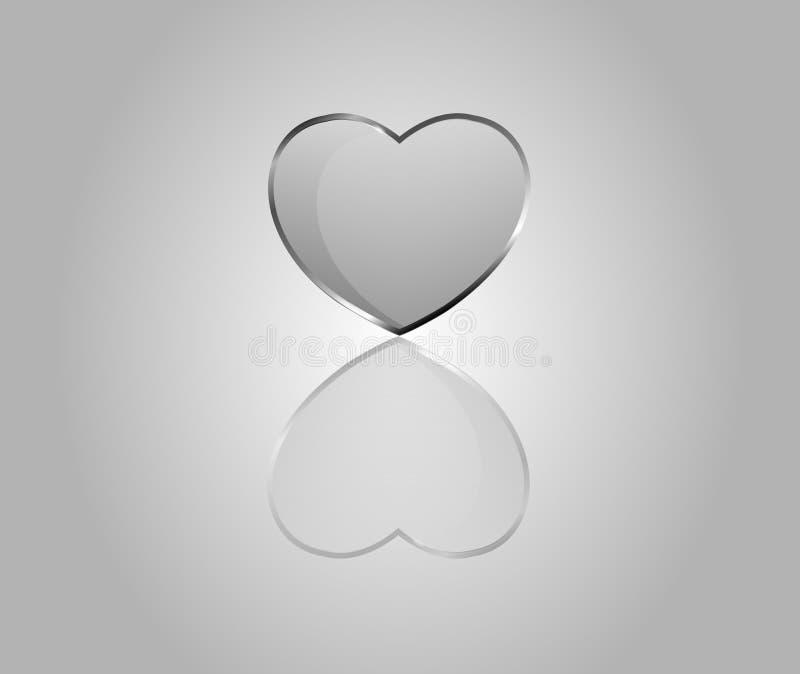 Διανυσματικές στιλπνές καρδιές διανυσματική απεικόνιση