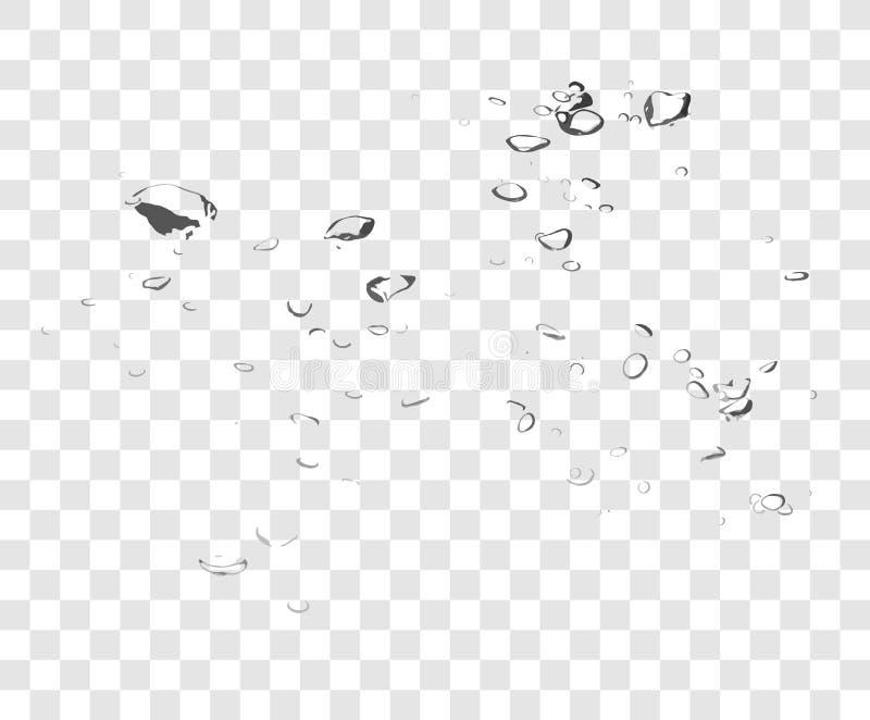 Διανυσματικές φυσαλίδες νερού σαπουνιών στοκ εικόνες με δικαίωμα ελεύθερης χρήσης