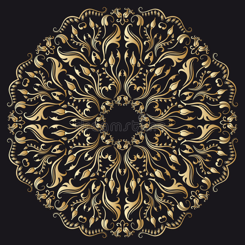Διανυσματικές χρυσές διακοσμήσεις. ελεύθερη απεικόνιση δικαιώματος