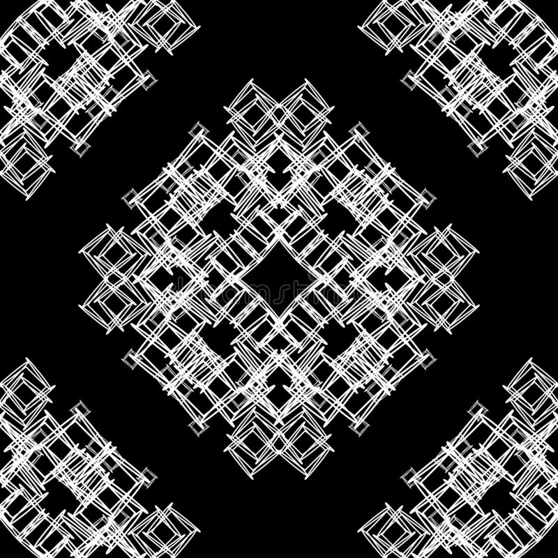 Διανυσματική άνευ ραφής διακοσμητική γραπτή ατελείωτη σύσταση σχεδίων διανυσματική απεικόνιση