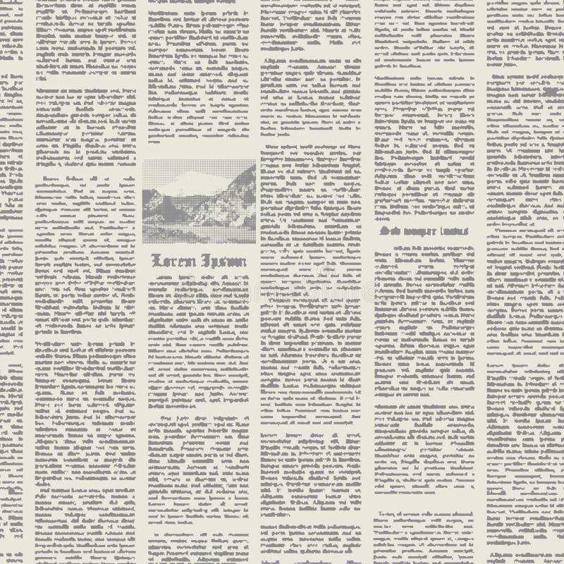 Διανυσματική άνευ ραφής εφημερίδα σχεδίων ελεύθερη απεικόνιση δικαιώματος