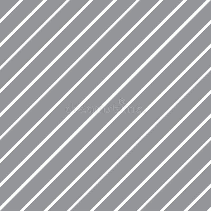 Διανυσματική άνευ ραφής σύσταση με τις κλίνοντας γκρίζες και άσπρες γραμμές απεικόνιση αποθεμάτων
