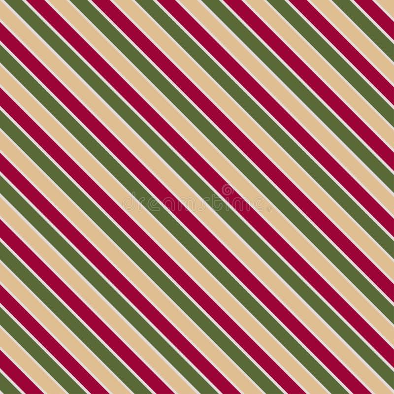 Διανυσματική άνευ ραφής σύσταση στα χρώματα Χριστουγέννων με οι γραμμές απεικόνιση αποθεμάτων