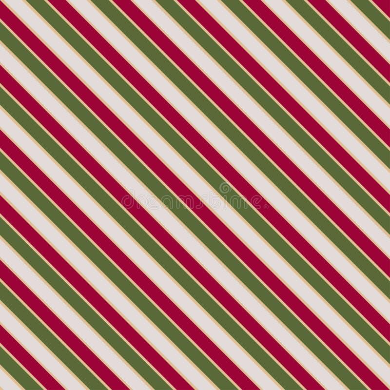 Διανυσματική άνευ ραφής σύσταση στα χρώματα Χριστουγέννων με οι γραμμές διανυσματική απεικόνιση