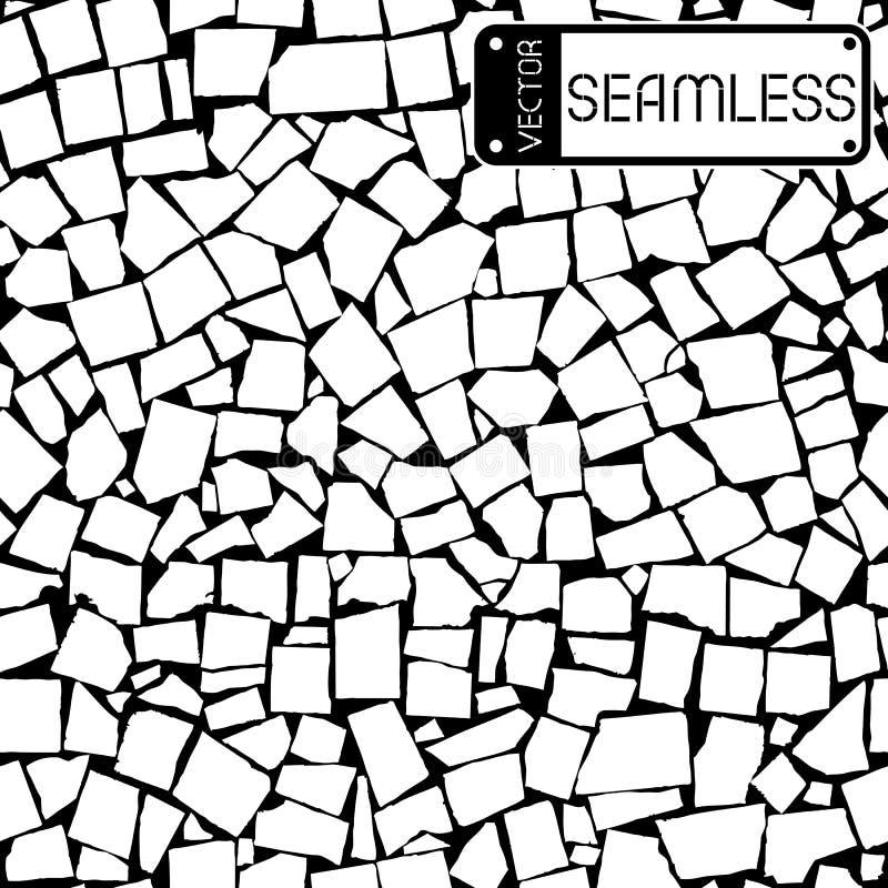 Διανυσματική άνευ ραφής σύσταση του γραπτού ασυμμετρικού διακοσμητικού τοίχου κεραμιδιών ελεύθερη απεικόνιση δικαιώματος