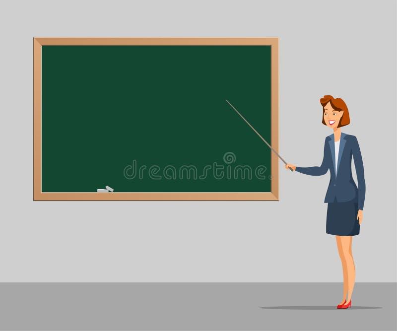 Διανυσματική έγχρωμη εικονογράφηση κινούμενων σχεδίων σχολικού μαθήματος ελεύθερη απεικόνιση δικαιώματος