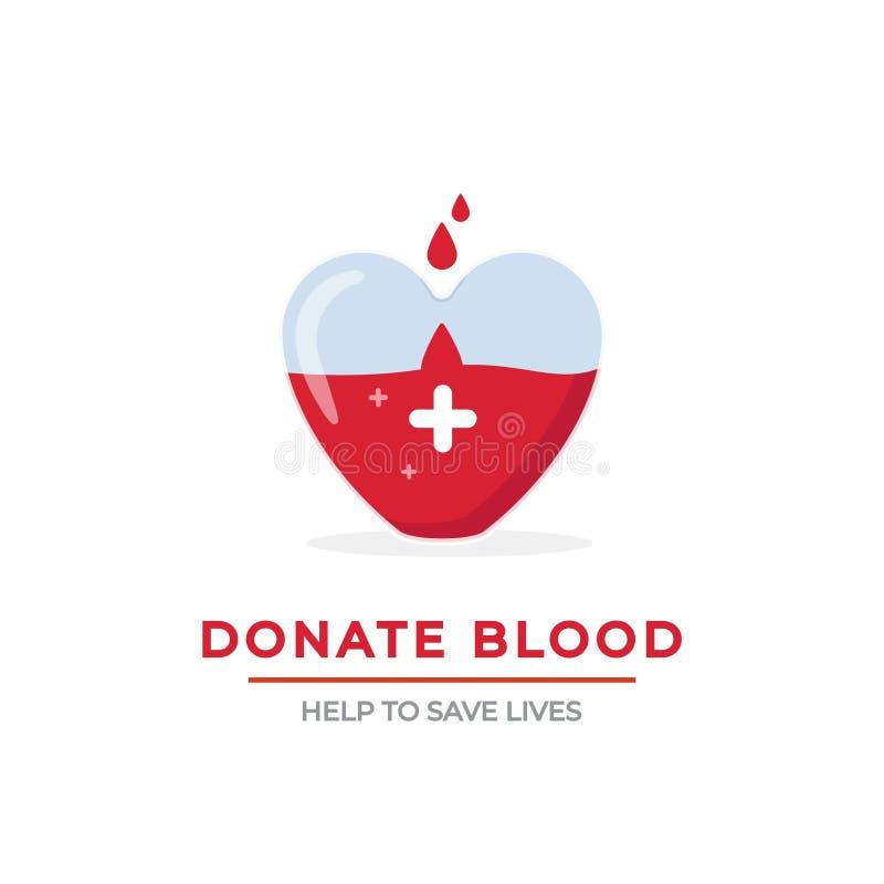 Διανυσματική έννοια αφισών δωρεάς αίματος διανυσματική απεικόνιση