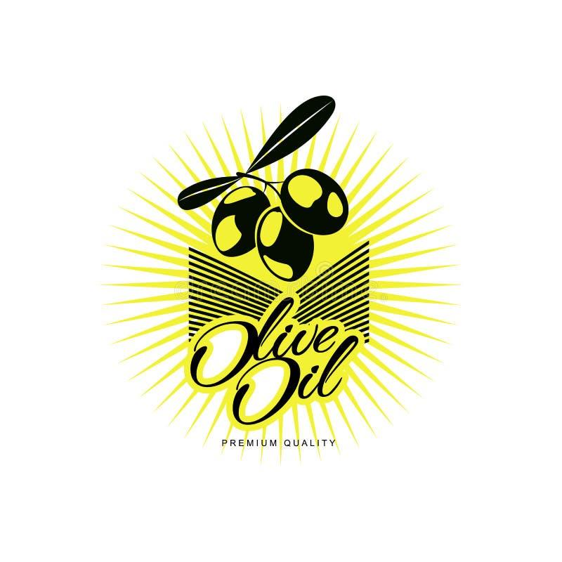 Διανυσματική έννοια εμπορικών σημάτων εικονιδίων λογότυπων ελαιολάδου που απομονώνεται διανυσματική απεικόνιση