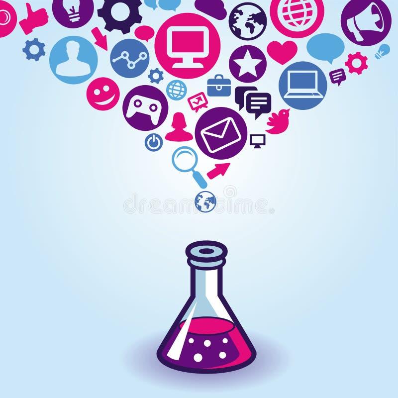 Διανυσματική έννοια μάρκετινγκ Διαδικτύου ελεύθερη απεικόνιση δικαιώματος