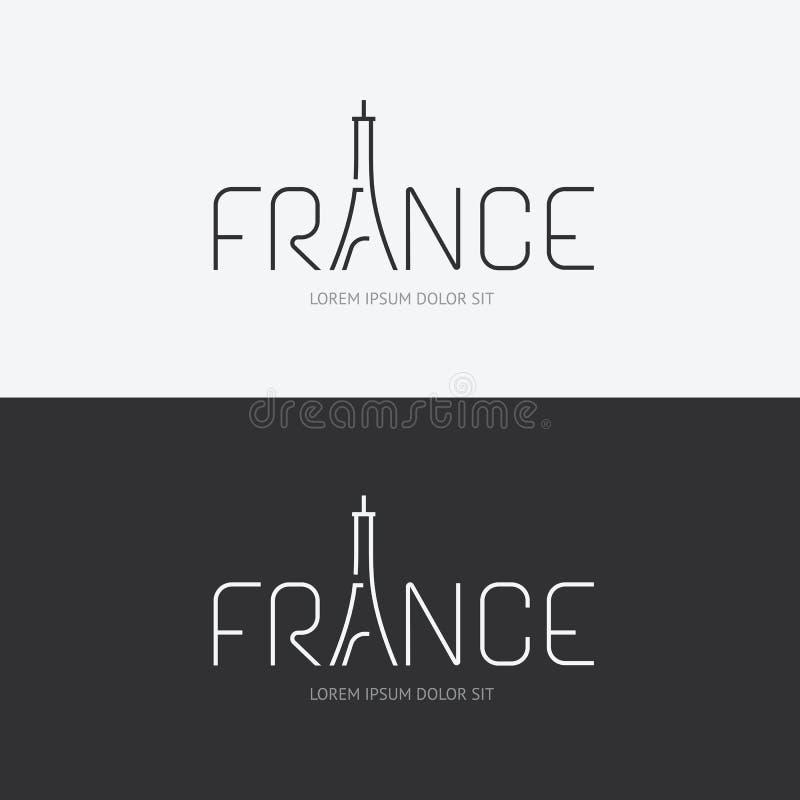Διανυσματική έννοια σχεδίου της Γαλλίας αλφάβητου με το επίπεδο εικονίδιο σημαδιών απεικόνιση αποθεμάτων