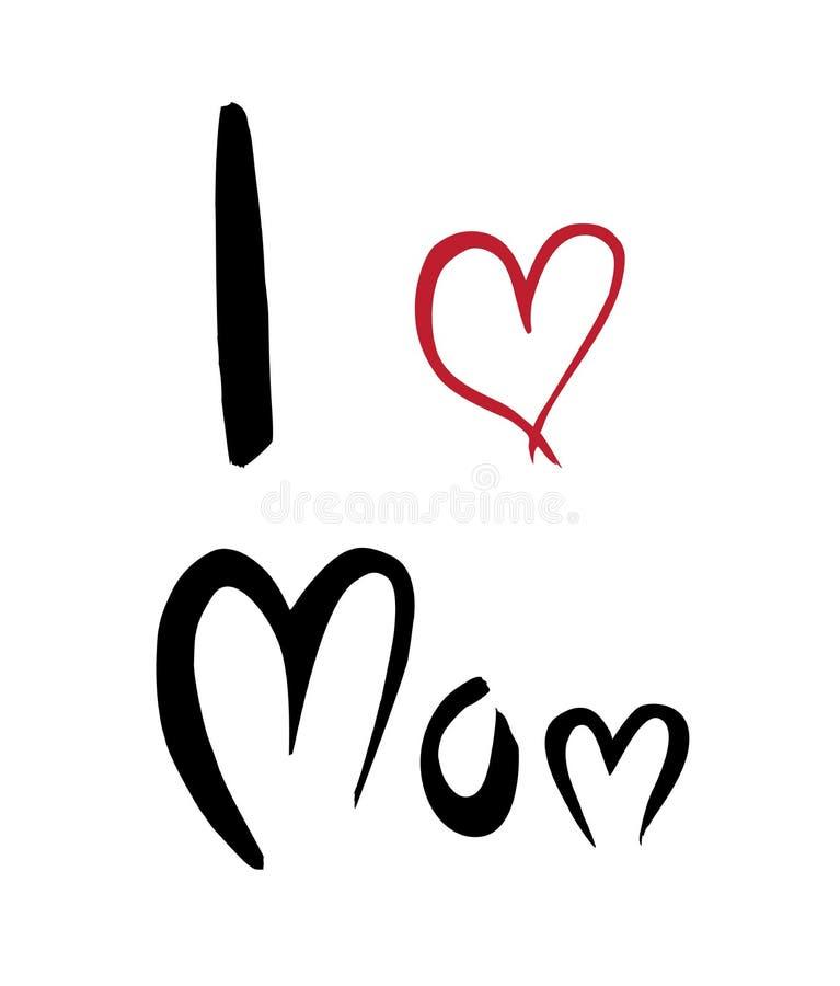 Διανυσματική αγάπη Ι mom ελεύθερη απεικόνιση δικαιώματος