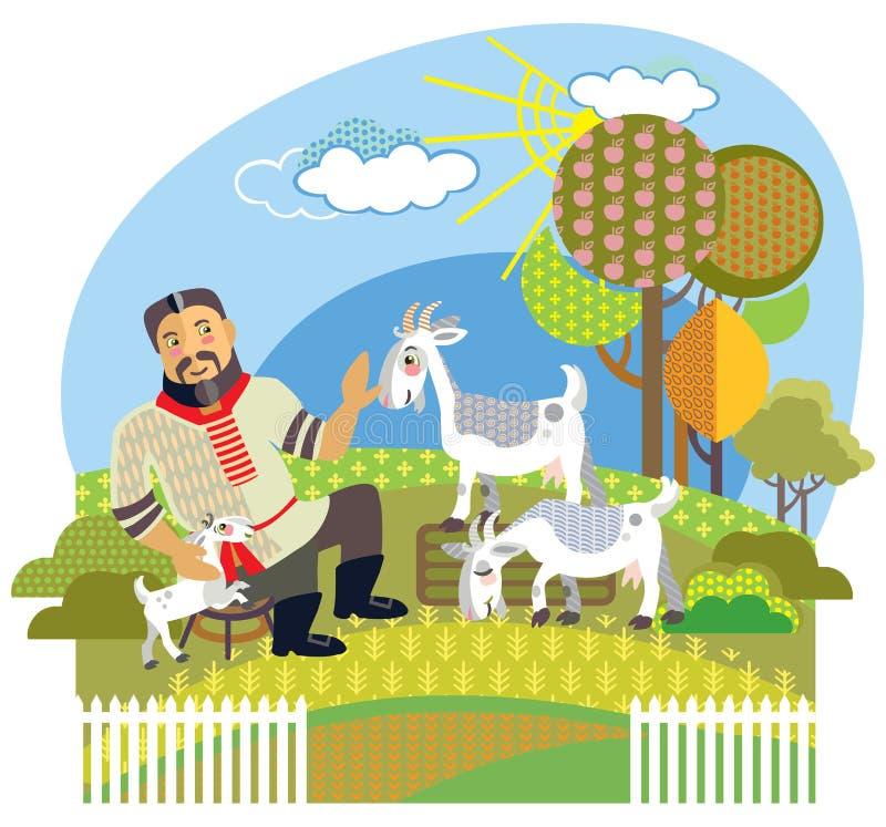 Διανυσματική αγροτική εικόνα 2 ελεύθερη απεικόνιση δικαιώματος