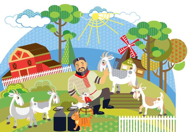 Διανυσματική αγροτική εικόνα 8 ελεύθερη απεικόνιση δικαιώματος