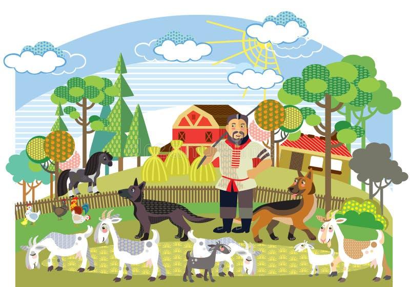Διανυσματική αγροτική εικόνα 7 απεικόνιση αποθεμάτων