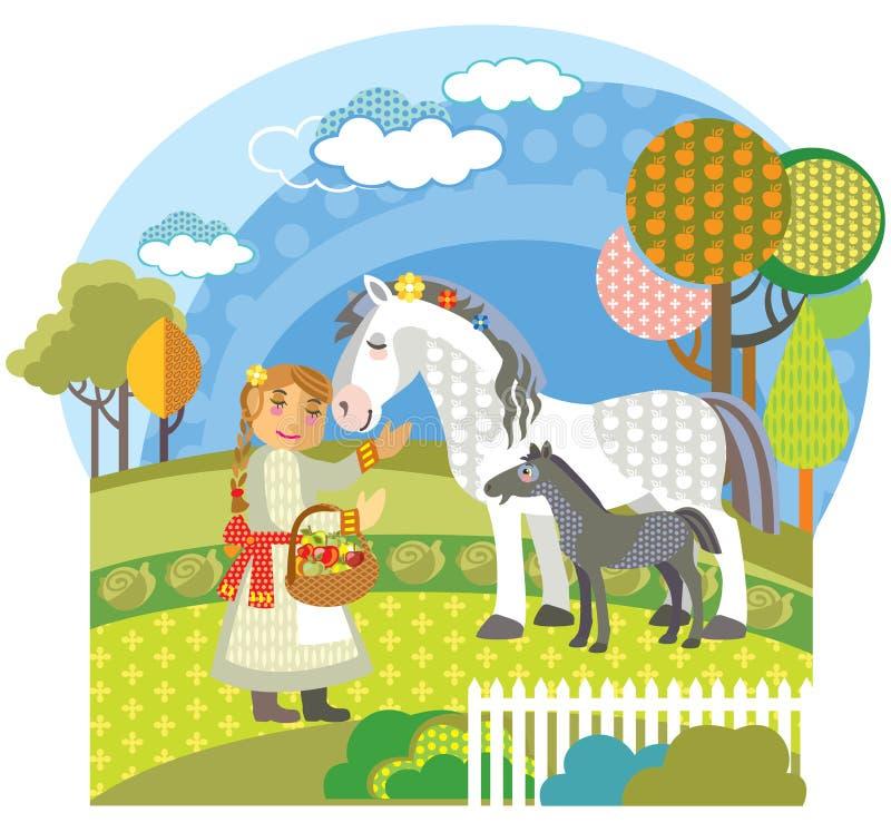 Διανυσματική αγροτική εικόνα 1 απεικόνιση αποθεμάτων