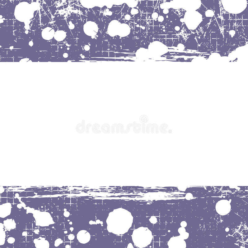 Διανυσματική ανασκόπηση Μπλε πρότυπο Grunge με τον παφλασμό, τριβή ψεκασμού, ρωγμές απεικόνιση αποθεμάτων