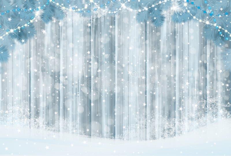 Διανυσματική ανασκόπηση Χριστουγέννων διανυσματική απεικόνιση