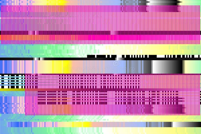 Διανυσματική ανασκόπηση Ψηφιακή δυσλειτουργία εικονοκύτταρα, που σπάζουν στοκ εικόνες με δικαίωμα ελεύθερης χρήσης