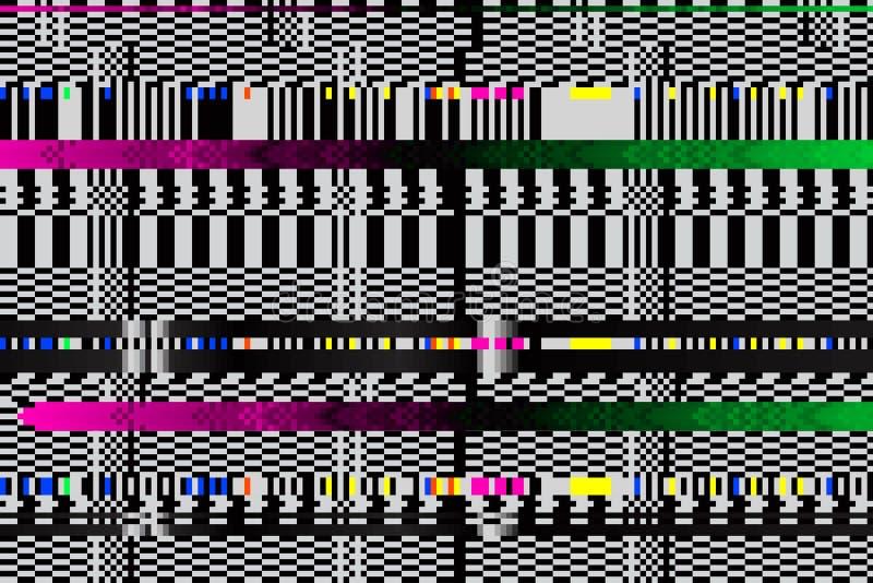 Διανυσματική ανασκόπηση Ψηφιακή δυσλειτουργία εικονοκύτταρα, που σπάζουν στοκ εικόνες