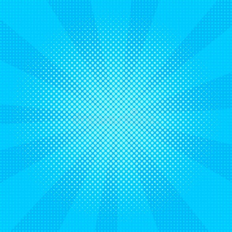 Διανυσματική απεικόνιση έκρηξης Αναδρομικό λαϊκό υπόβαθρο τέχνης με τα σημεία ελαφριές ακτίνες απεικόνιση αποθεμάτων