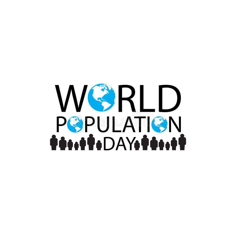 Διανυσματική απεικόνιση, έμβλημα ή αφίσα της ημέρας παγκόσμιων πληθυσμών διανυσματική απεικόνιση