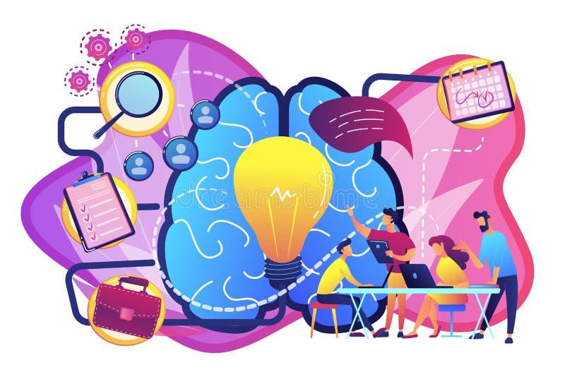 Διανυσματική απεικόνιση έννοιας διαχείρισης του προγράμματος ελεύθερη απεικόνιση δικαιώματος