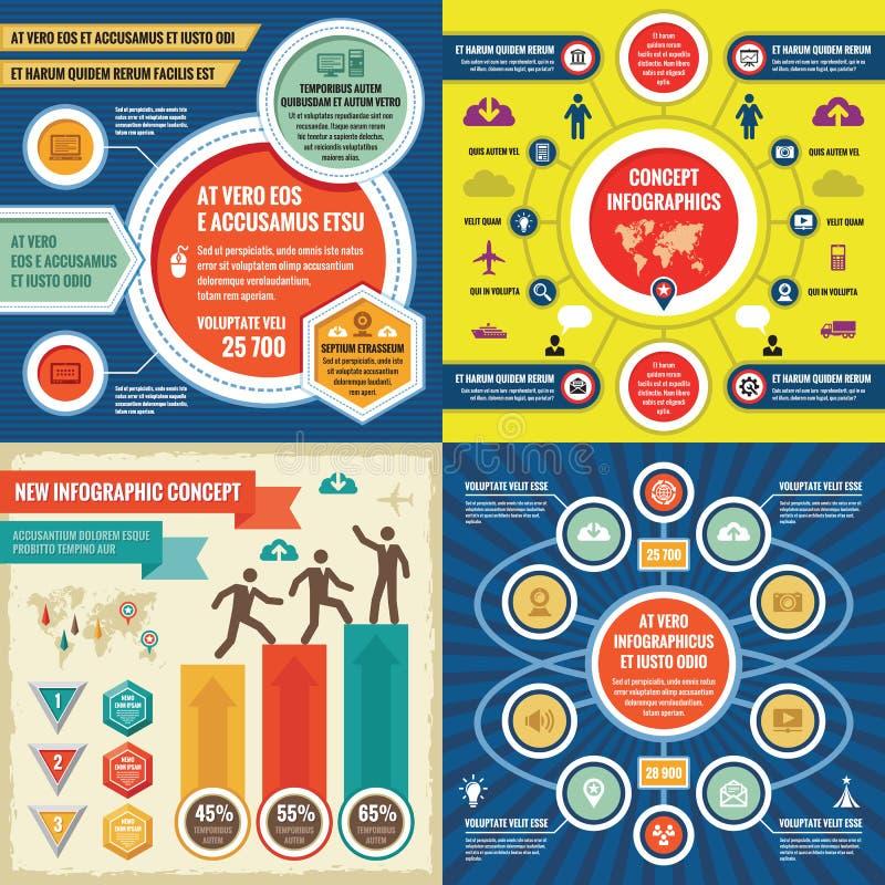 Διανυσματική απεικόνιση έννοιας επιχειρησιακών infographic προτύπων αφηρημένο σύνολο εμβλημάτ&om Συλλογή σχεδιαγράμματος προώθηση διανυσματική απεικόνιση