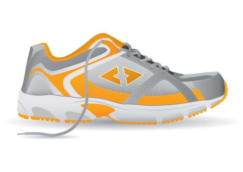 Διανυσματική απεικόνιση αθλητικών παπουτσιών πάνινων παπουτσιών απεικόνιση αποθεμάτων