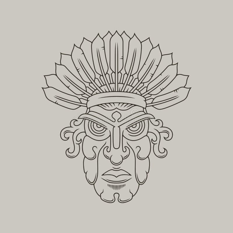 Διανυσματική απεικόνιση αμερικανών ιθαγενών στοκ φωτογραφία με δικαίωμα ελεύθερης χρήσης