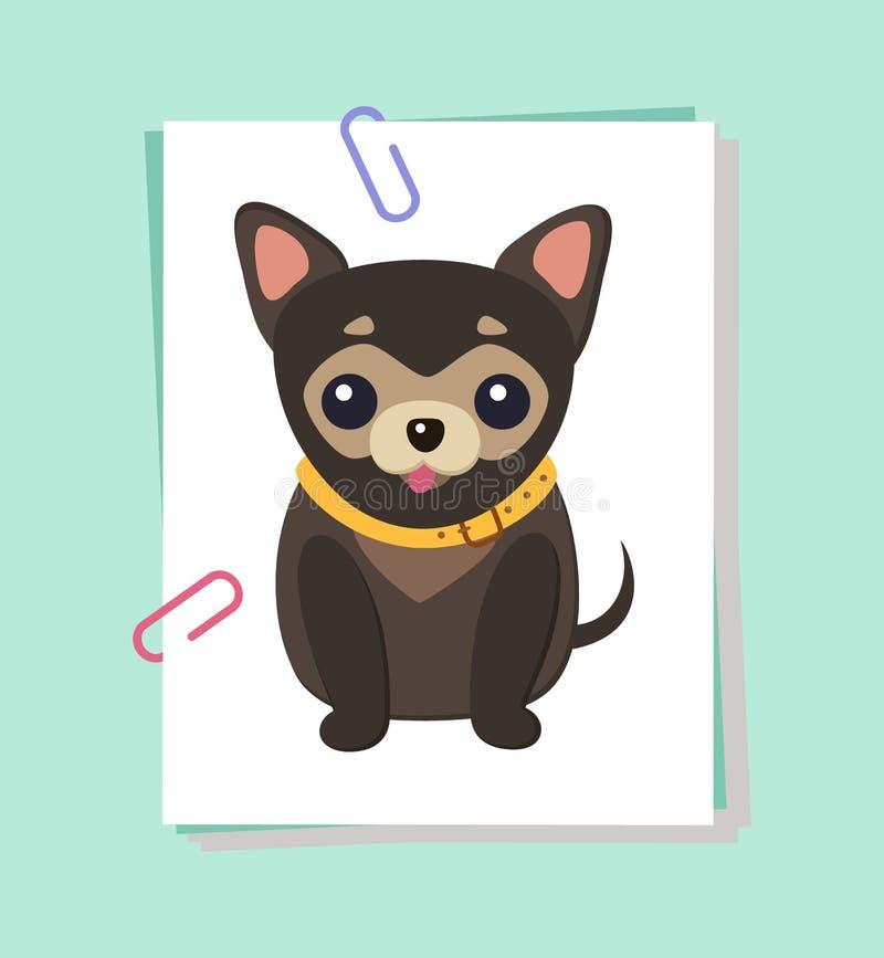 Διανυσματική απεικόνιση αφισών εικόνων σκυλιών Chihuahua ελεύθερη απεικόνιση δικαιώματος