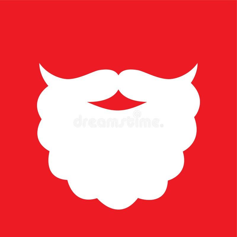 Διανυσματική απεικόνιση γενειάδων Santa ` s γραφική απεικόνιση αποθεμάτων
