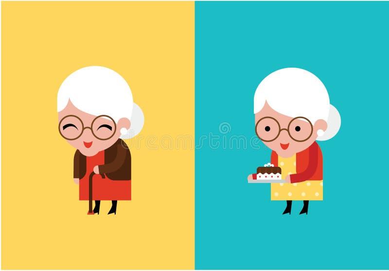 Διανυσματική απεικόνιση γιαγιάδων ελεύθερη απεικόνιση δικαιώματος
