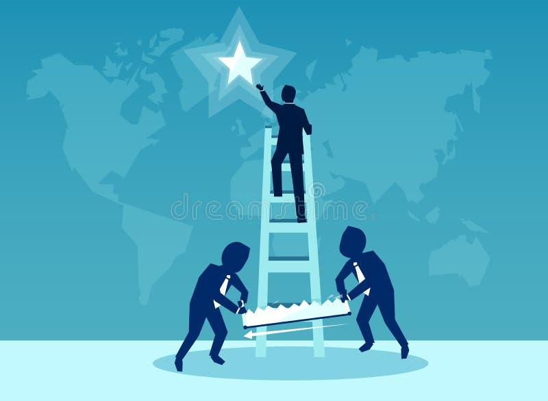 Διανυσματική απεικόνιση για την έννοια επιχειρησιακού ανταγωνισμού απεικόνιση αποθεμάτων