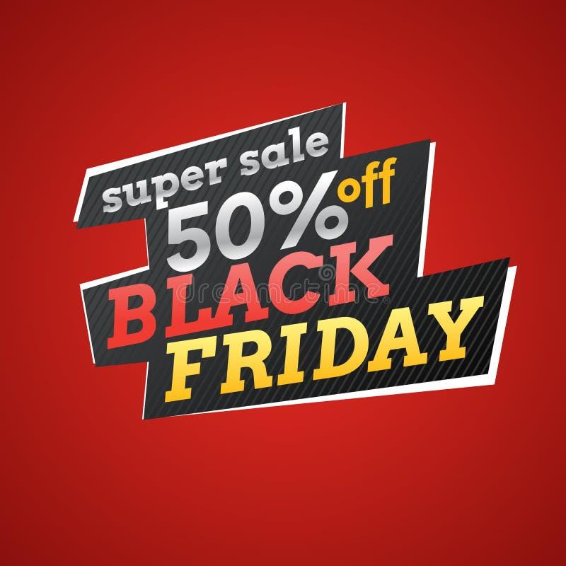 Διανυσματική απεικόνιση για τη μαύρη Παρασκευή Μεγάλες πωλήσεις απεικόνιση αποθεμάτων