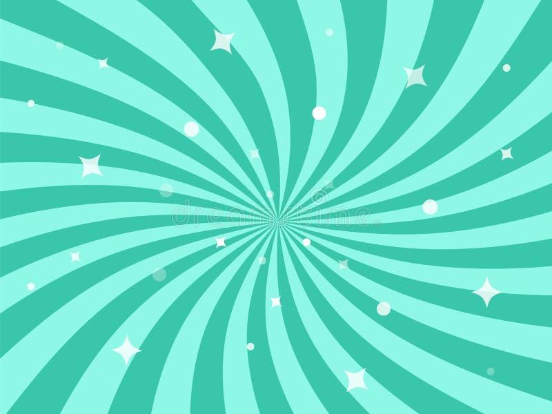 Διανυσματική απεικόνιση για το σχέδιο στροβίλου Στροβιλιμένος ακτινωτό υπόβαθρο αστεριών σχεδίων απεικόνιση αποθεμάτων