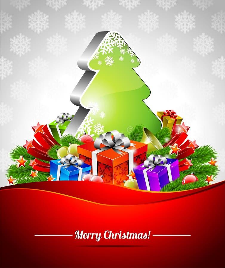 Διανυσματική απεικόνιση διακοπών σε ένα θέμα Χριστουγέννων. διανυσματική απεικόνιση