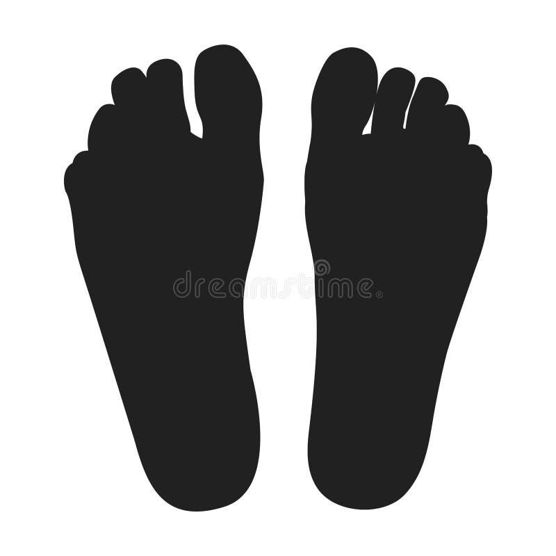 Διανυσματική απεικόνιση: Δύο μαύρα πόδια στοκ φωτογραφία με δικαίωμα ελεύθερης χρήσης