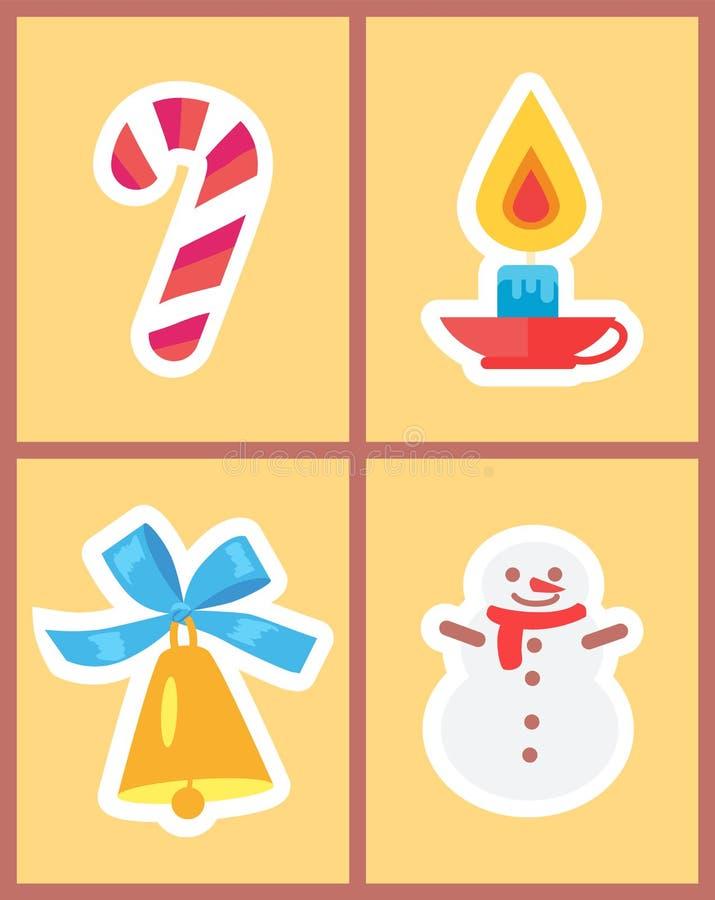 Διανυσματική απεικόνιση εικονιδίων διακοπών Wintertime ελεύθερη απεικόνιση δικαιώματος